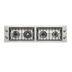 KitchenAid KHDF1160 Esclusivo Montaggio Piano Cottura a Gas 4 Zone 120cm Inox