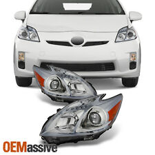 Fits 10-11 Toyota Prius Halogen Type Clear Left & Right Side Projector Headlight