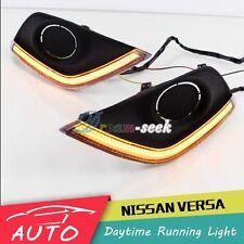 FOR NISSAN VERSA SUNNY 2014+ DRL LED DAYTIME RUNNING LIGHT FOG LAMP TURN SIGNAL