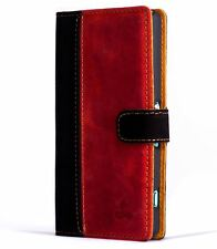 Snakehive® Sony Xperia Z3 Compact Vintage Leather Wallet Phone Case w/Card Slots