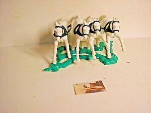Soldatini Timpo Quadriglia Cavalli Traino in plastica scala 1:32