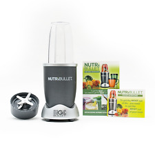 NUTRIBULLET 600 W Grigio 5 PZ Set Nutrition Estrattore Frullatore AS Seen on TV Regno Unito
