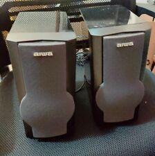 Aiwa Bookshelf Speakers, Model SX-MS7 -- Clean and Work Fine