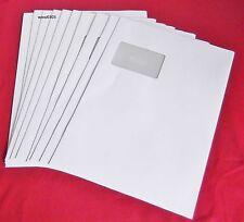Versandtaschen 10 Stück weiß haftklebend A4/C4 Mit Fenster  120g