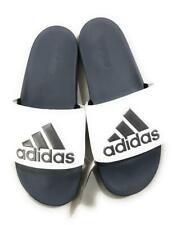 Adidas Men's Adilette Comfort Slides Slippers Sandals, Gray/White, Size US 13