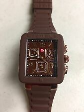 MICHELLE MWW06L000007 PARK JELLY BROWN SILICONE STRAP WATCH