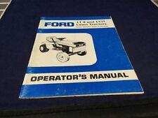 Ford  LT8 & LT11 Lawn Tractor Operators Manual  SE4315B 1085