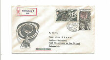 1965 Czechoslovakia registered cover to Austria   rockets  space