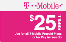 T-Mobile Prepaid $25 Refill Top-Up Prepaid Card / RECHARGE DIRECT