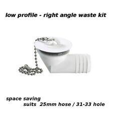 RV 25mm 90º angle waste outlet drain kit - e.g. Dometic Cramer sink caravan boat