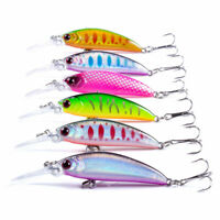 6pcs/Lot 7cm/6g Fishing Lures Jerkbait	Crankbaits Minnow Hooks Bait Bass Tackle