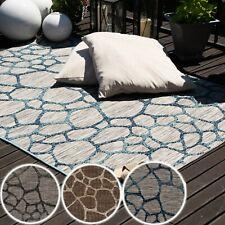 Indoor und Outdoorteppiche Wetterfester 3D Teppich für Balkon Terrasse Lounge