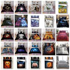 3D Duvet Cover Skull Quilt Cover Bedding Set with Pillowcases Single Double King