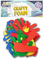 Crafty Foam Hands Feet Shapes - Assorted Colours - Card Making - UK Stockist