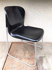 Ancienne Chaise Design SM400K De GERD LANGE DRABERT Métal Gris + Coque Vintage