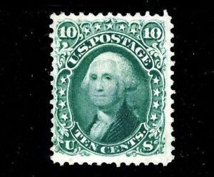 USAstamps Unused FVF US 1861 Civil War Issue Washington Scott 68 NG +Cert