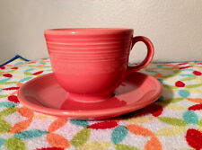 FIESTA PERSIMMON COFFEE / TEA CUP & SAUCER, 7.75 OZ, NEW RETIRED COLOR,