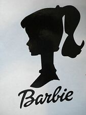 Vintage Barbie Look Decal 6 inch x 3 1/2 inch for Car Window or Notebook