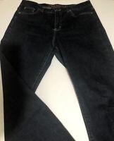 Ralph Lauren Womens Dark Blue Denim Jeans Classic Straight Leg Size 8P