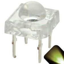 20 x LED 5mm Dome Superflux Warm Soft White Piranha LEDs Sign Lights Super Flux