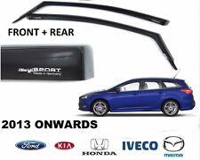 ORIGINALE Ford Focus Estate Climair Vento Air Deflettori Scuro Tinta anteriore + posteriore