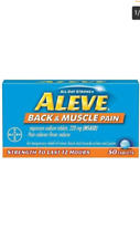 New Aleve Back & Muscle Pain Reliever/Fever Reducer, 220mg 50 Tablets