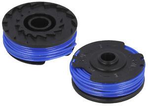 2 X Spool & Line Fits FLYMO TWIN LINE PTXT25, SET250, SET300, STXT25 SPEEDI-TRIM