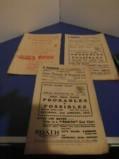 More details for wales trial matches  1959, 1960 and 1962 programmes