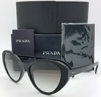 New Prada sunglasses PR14US 1AB0A7 Black Gradient AUTHENTIC Women PR 14 Heart