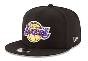 Los Angeles Lakers New Era 9Fifty Basic Black Team Adjustable Snapback Hat Cap