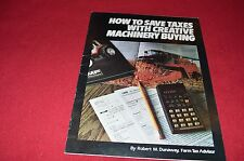 Massey Ferguson Save Taxes With Creative Machinery Buying Dealer's Brochure Lcoh