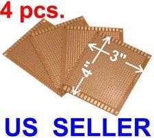 4 Pcs 3x4 7x9cm Prototyping Pcb Printed Circuit Board Prototype Breadboard
