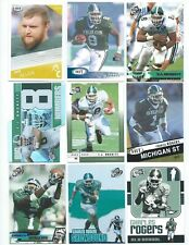 Lot of 30 Different Michigan State College Uniform Football Cards With Inserts