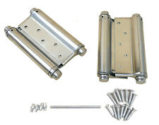 "A Pair 3"" Adjustable Double Action Spring Hinge Saloon Cafe Swing Door w Screws"