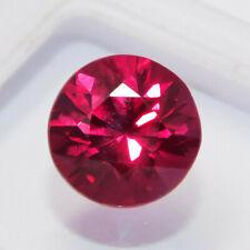 Natural Certified Round Cut 4 Ct Rubylite Tourmaline Loose Gemstone