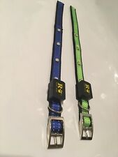 Light Up LED Dog Collar 2 Pack Size Small With Metal Buckle