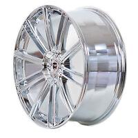 4 GWG Wheels 20 inch Chrome FLOW Rims fits 5x120 ET38 LAND ROVER LR3 HSE 2005-09