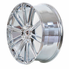 4 GWG Wheels 20 inch Chrome FLOW Rims fits ET38 MERCEDES CL-CLASS STAGGERED WIDT