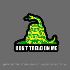 "Gadsden Flag Don't Tread On Me Snake Auto Decal Sticker Digital Print 6"" Inch"