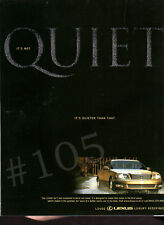 LEXUS LS400 Car ADVERT - 1999 Advertisement