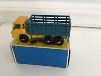 Rare Matchbox 4d Dodge Stake Truck  blue stake bed Mint in original box