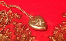 ORELIA NECKLACE ~RRP £22~ VINTAGE STYLE HEART LOCKET PENDANT JEWELLERY ~7570~
