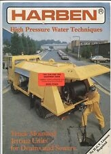 N°5584 / dépliant camion HARBEN high pressure water techniques