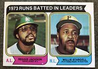 1974 TOPPS REGGIE JACKSON/WILLIE STARGELL RBI LEADERS CARD#203 NRMT/MT CONDITION