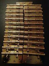 "THERMA-TRU door hinges w/ alignment tabs 4"" brass plated RH set of 25 (HG14YZRA)"