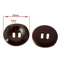 10x 2 Holes Wooden Buttons Round Fit Sewing Scrapbooking Cloth Accessories 30mm