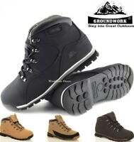 MENS GROUNDWORK LIGHTWEIGHT LEATHER STEEL TOE CAP SAFETY WORK BOOTS TRAINERS