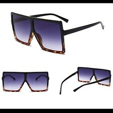 0a3f07adf1ef Designer Inspired Shadow Shield Chunky Black Sunglasses Celeb Megan UV UK