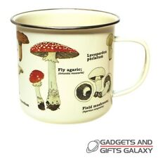 Mushroom Enamel Drinks Mug Ecologie Illustrated  Foragers Nature Novelty Gift