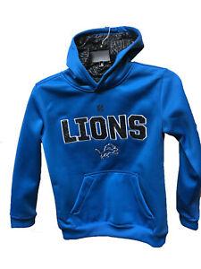 Detroit Lions Youth Boys Wordmark Performance Pullover Hoody Sweatshirt